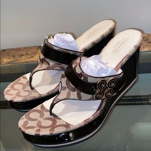 Brown COACH wedges